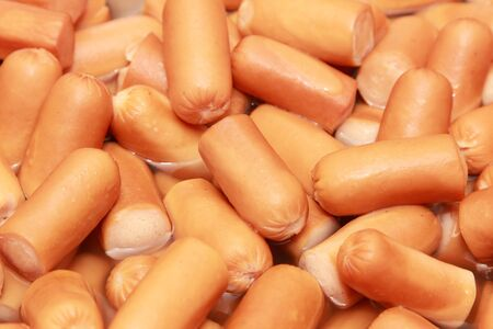 background of boiled pork sausages Stock Photo - 18816721