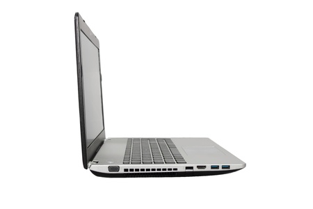 isolated laptop in white background photo