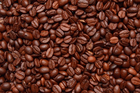 background of good quality roast coffee beans photo