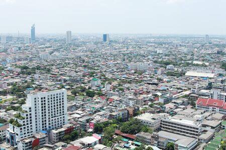 bird eyes view of bangkok thailand photo