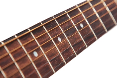 isolated guitar fretboard in white background Stock Photo - 19094188