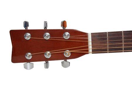 guitarra acustica: cabezal aislado de la guitarra