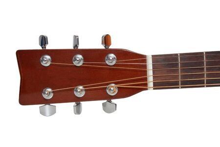 acoustic guitar: isolated headstock of the guitar