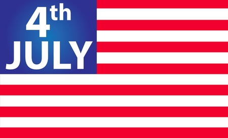 background showing us flag with 4 of july photo