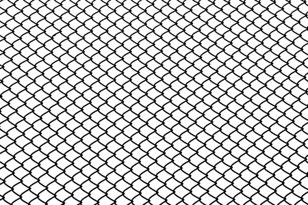 detain: isolated mesh wire in white background