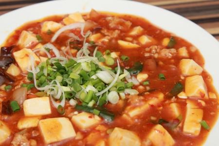 mapo doufu in a plate