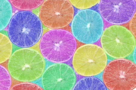 background of slice colorful lime  photo