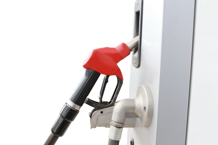 isolated red fuel dispenser at the gas station Stock Photo - 19759962