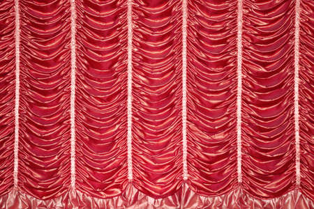 stage red curtains for the show photo
