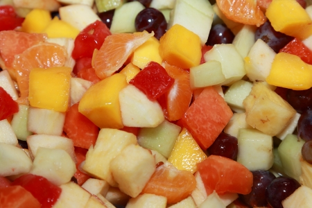 background of fresh fruit salad photo