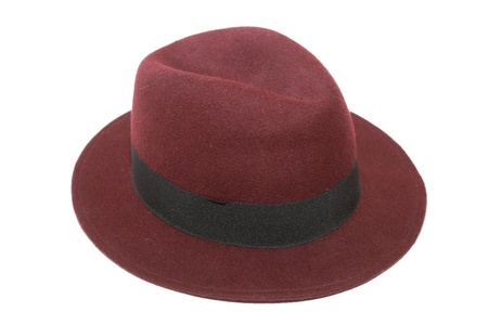 isolated image of red top hat in white background photo