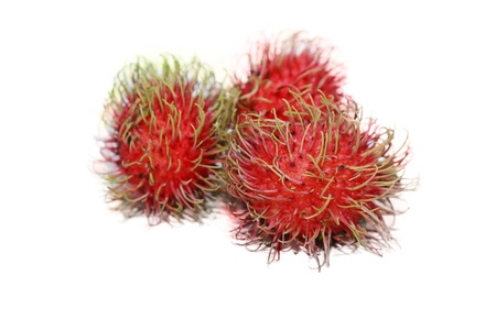 isolated fresh rambutans in white background photo
