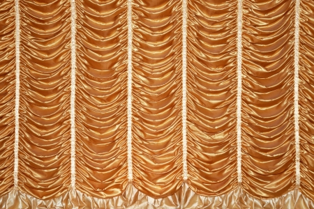 stage gold curtains for the show photo