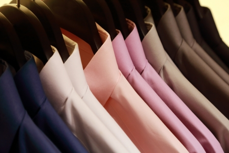 background of shirts hanging on a hanger Stok Fotoğraf - 20688290