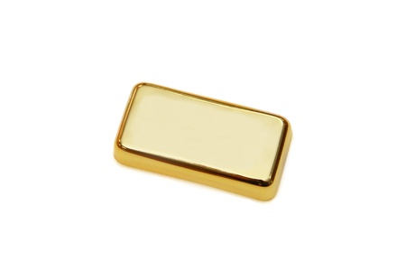 gold bar: isolated gold bar in white background