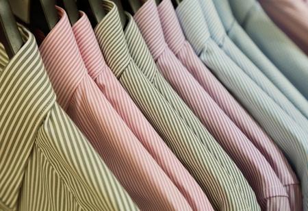 formal shirt: background of shirts hanging on a hanger