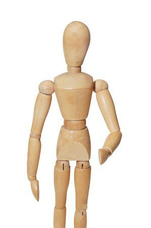 hand position: maniqu� de madera aislado en la posici�n agitar la mano