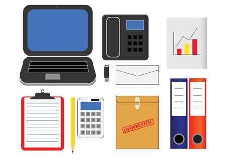 vaus kind of office supplies in vector Stock Vector - 21777070