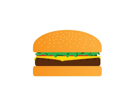 cheese burger: isol� juteux cheese burger
