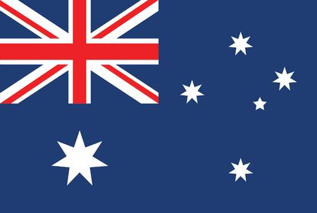 cruz roja: bandera de australia Vectores