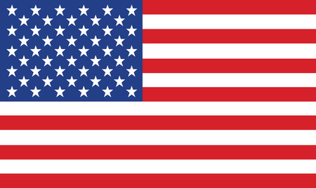 vector: vector image of american flag Illustration