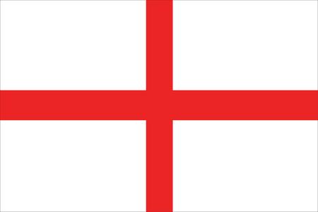 drapeau angleterre: vecteur de drapeau de l'angleterre Illustration
