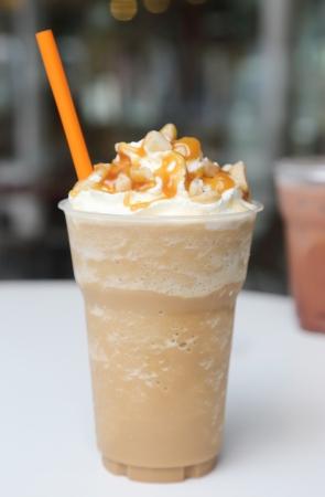 ice blend caramel coffee 写真素材