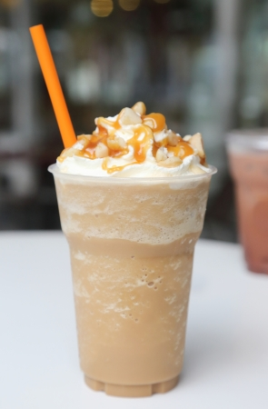 ice blend caramel coffee Archivio Fotografico