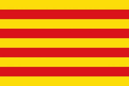 カタロニアの旗の背景