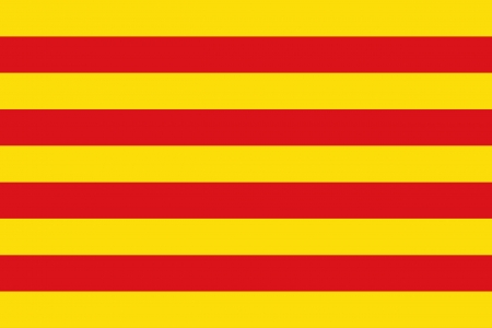 background of catalonia flag Ilustrace