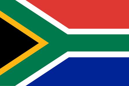 南アフリカ共和国の旗の背景  イラスト・ベクター素材