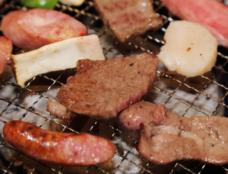 yakiniku: yakiniku a japanese barbecue