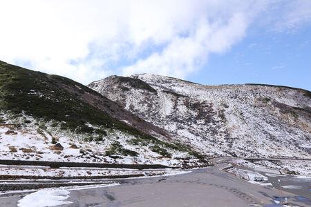 view of kurobe alpine in tateyama japan photo