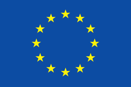 eu flag: vector background of european flag