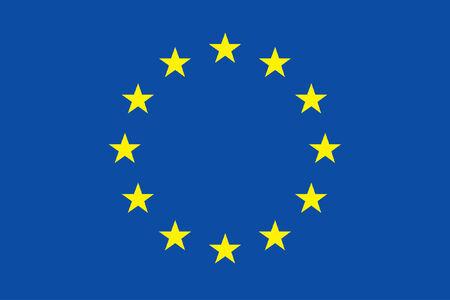 european culture: vector background of european flag