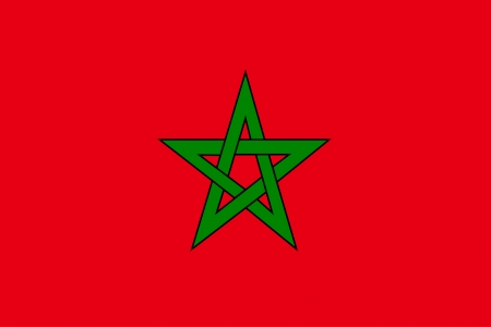 vector background of morocco flag  イラスト・ベクター素材