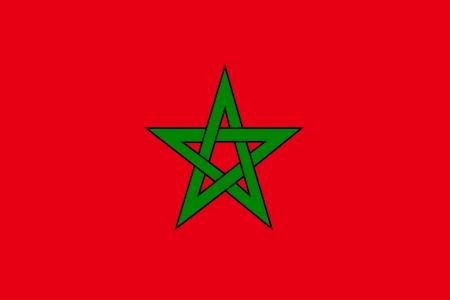 banderas del mundo: vector de fondo de la bandera de Marruecos