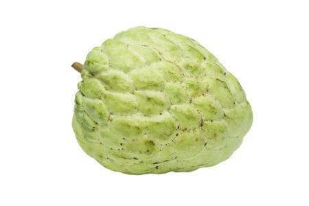 chirimoya: isolated custard apple in white background Stock Photo