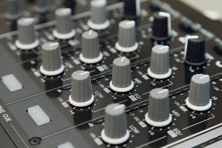 background of sound mixer control panel photo