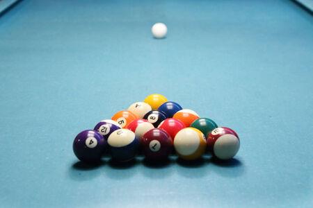 pool ball on the table