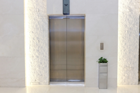 background of elevator door in a modern building Stok Fotoğraf
