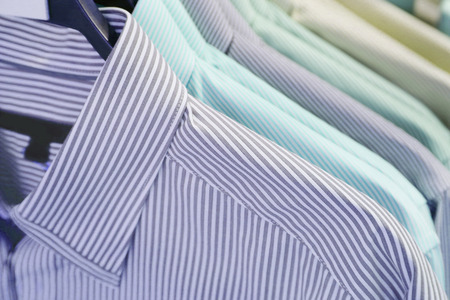 shirts hanging on a hanger