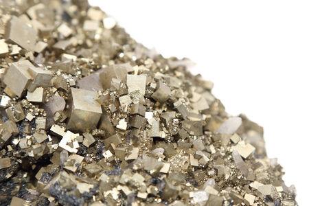 oscillations: pyrites with galena, calcite, quartz Stock Photo