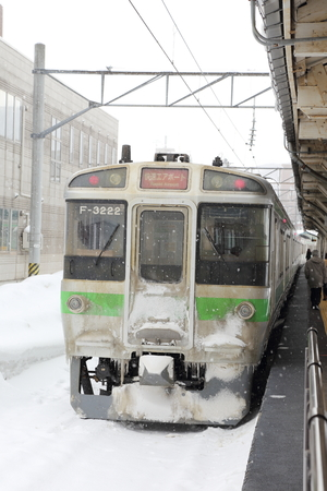 sub zero: OTARU JAPAN - FEBRUARY 13     snow  in Otaru train station in Sapporo , Japan  on February 13, 2014  This snow storm has killed 19 people and caused more than 1,600 injured around the country Editorial