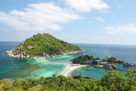 view of koh nang yuan in chumphon  thailand photo