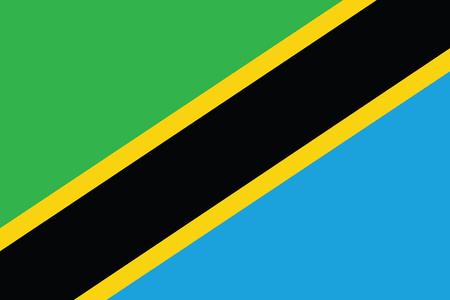 vector background of tanzania flag