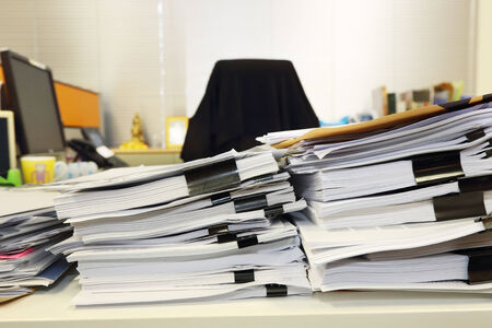 unorganized: mess office table