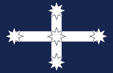 vector background of eureka flag Illustration