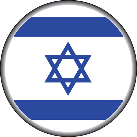 vector button of israel badge Vector