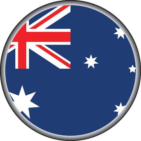 flag australia: vector button of australia badge